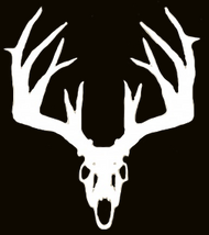Mossy Oak White Vinyl Decal Whitetail Skull
