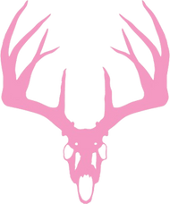 Mossy Oak Pink Vinyl Decal Whitetail Skull