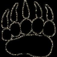 Western Vista Bear Paw Decal 6x6