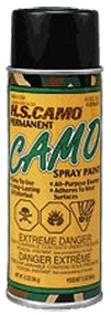 HS *12oz Flat Black Camo Spray Paint