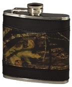 Weber Camo Leather Flask Breakup w/Black