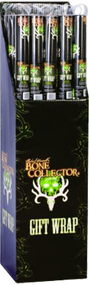 Signature Bone Collector Gift Wrap 22 sq ft  Black w/Green Logo