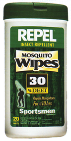Repel Mosquito Wipes 30% Deet - 20 Pieces