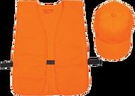 Allen Hat & Vest Combo Orange Mediume - Xlarge (OSFA)