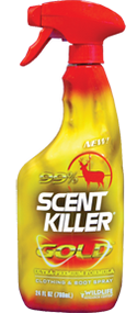 Wildlife Scent Killer Gold Clothing & Boots Spray 24oz Scent Eliminator