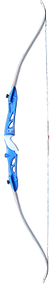 """Western 2015 Knight 66"""" Takedown Recurve Bow Blue Right Hand 29# w/White Limbs"""