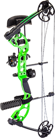 """2015 Quest Radical Package Green/Black Left Hand 25"""" 40# Compund Bow"""