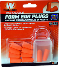 GSM Walkers Foam Ear Plugs - 10 Pieces