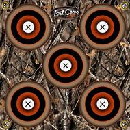 Arrowmat Woodland Shadow 5 Spot Target 17x17 - 3 Pack Paper Targets