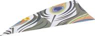 """4"""" RW Gateway Printz Feather Peacock - 18 Pieces Feathers"""