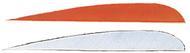 "Trueflight 4"" RW Feathers 6-White 12-Orange - 18 Pieces Feathers"