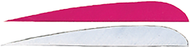 """Trueflight 4"""" RW Feathers 6-White 12-Pink - 18 Pieces Feathers"""