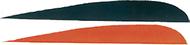 "Trueflight 4"" RW Feathers 6-Black 12-Orange - 18 Pieces Feathers"