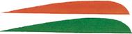 "Trueflight 4"" RW Feathers 6-Green 12-Orange - 18 Pieces Feathers"