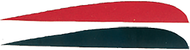 """Trueflight 4"""" RW Feathers 6-Red 12-Black - 18 Pieces Feathers"""