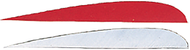 """Trueflight 4"""" RW Feathers 6-White 12-Red - 18 Pieces Feathers"""