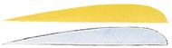 "Trueflight 4"" RW Feathers 6-Yellow 12-White - 18 Pieces Feathers"