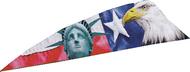 """4"""" RW Gateway Printz Feather Bald Eagle - 18 Pieces Feathers"""