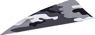 "4"" RW Gateway Printz Feather Gray Camo - 18 Pieces Feathers"