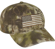 Outdoor Cap Kryptek USA Flag Baseball Hat Highlander Camo
