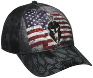 Outdoor Cap Kryptek USA Flag Typhon Camo Black Baseball Hat