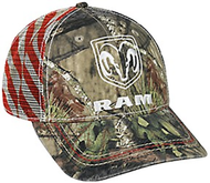Outdoor Cap Mossy Oak Country Camo Ram Logo Baseball Hat