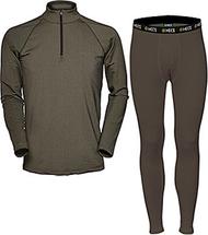 HECS Base Layer Pants & Shirt Green XLarge