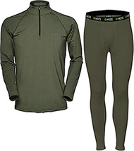 HECS Base Layer Pants & Shirt Green Small