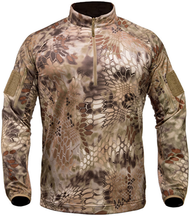 Kryptek Valhalla Men's Long Sleeve Zip Shirt Highlander Camo Large