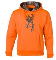 Browning Men's Hoodie Sweatshirt w/RTX Buckmark Blaze Orange Medium