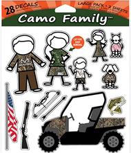 "Stoltz Realtree Camo Family Decal Set 7.5""x9"" - 28 Pieces"