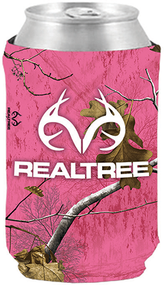 Stoltz Magnetic Can Cooler White Realtree Logo Realtree Xtra Camo Paradise Pink