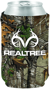 Stoltz Magnetic Can Cooler White Realtree Logo Realtree Xtra Camo