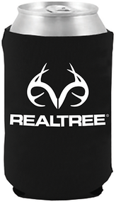 Stoltz Magnetic Can Cooler White Realtree Logo Black
