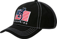 Browning Pride Cap Black with USA Flag & Buckmark Baseball Hat