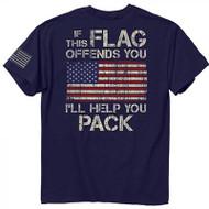 Buck Wear Pack It T-Shirt Navy XL