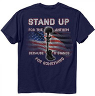 Buck Wear Stand Up For The Anthem T-Shirt Navy Large