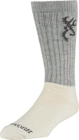 Browning Big Bertha Boot Socks Monument Grey - 1 Pair Size Large