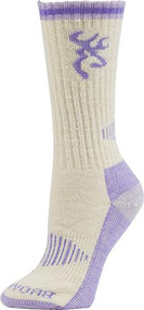 Browning Redwood Women's Socks Moonbeam - 1 Pair Size Medium