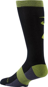 Browning Buckmark Unisex Socks Large Phantom/Dark Citron - 1 Pair Socks