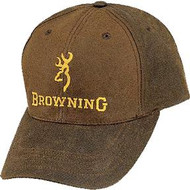 Browning Dura Wax Cap Brown Baseball Hat