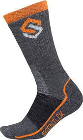 Scentlok Merino Hiking Socks Charcoal Medium - 1 Pair Socks