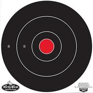 Birchwood Casey Dirty Bird 8 Inch Bullseye Target - 25 Pieces