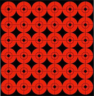Birchwood Casey 1 Inch Flo Red Target Spot - 12 Pieces