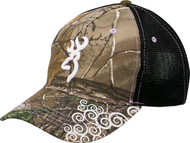 Browning Women's Tagged Out Cap Realtree Xtra Camo with Violet