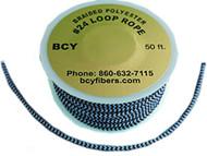 BCY D-Loop Rope  #24 1 Meter Blue/Black Bowstring Material