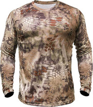 Kryptek Hyperion Long Sleeve Crew Shirt Highlander Camo Large