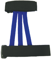 Wyandotte Youth Web Armguard Blue