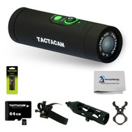 Tactacam Ultimate 5.0 Wi-Fi Hunting Action Camera Package with Flat Black Stabilizer & Extra Rechargeable Battery & Tactacam 64 GB Micro SD Card & Gun/Scope Mount & Head Mount