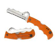 Spyderco Rescue Assist 3.69 in Comboedge Orange FRN Handle